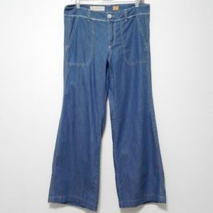 Pilcro and the Letterpress wide leg chambray jeans